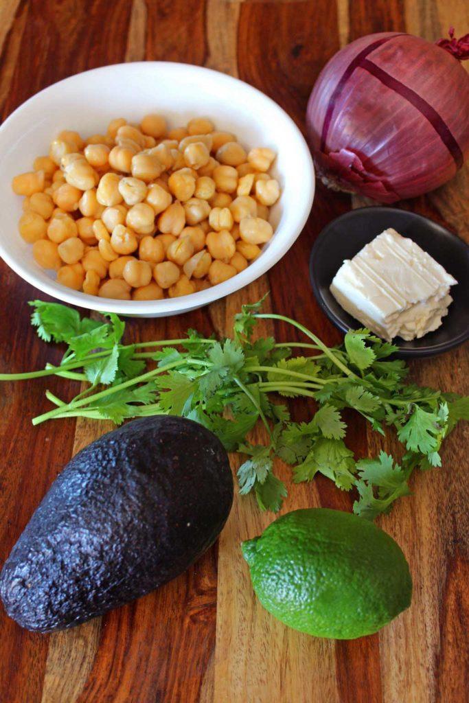 ingredients to make salad