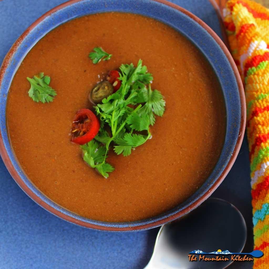 Healthy Crock-Pot Black Bean Soup {A Meatless Monday Recipe