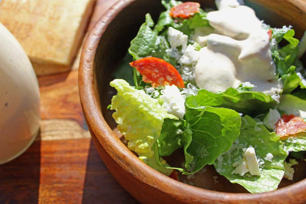 Caesar salad with creamy caesar dressing