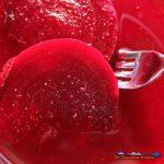 sliced beets in vinegar salt and pepper