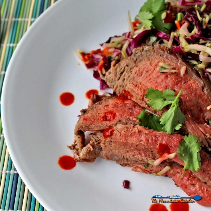 grilled Thai Steak Salad on plate