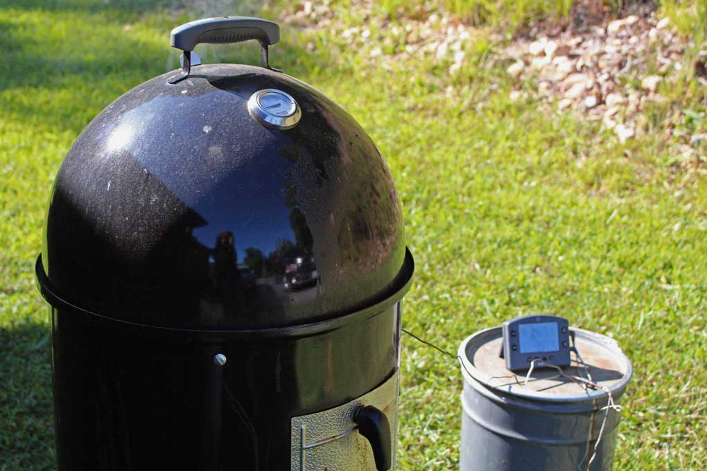 Weber Smokey Mountain Cooker with Thermoworks Thermometer