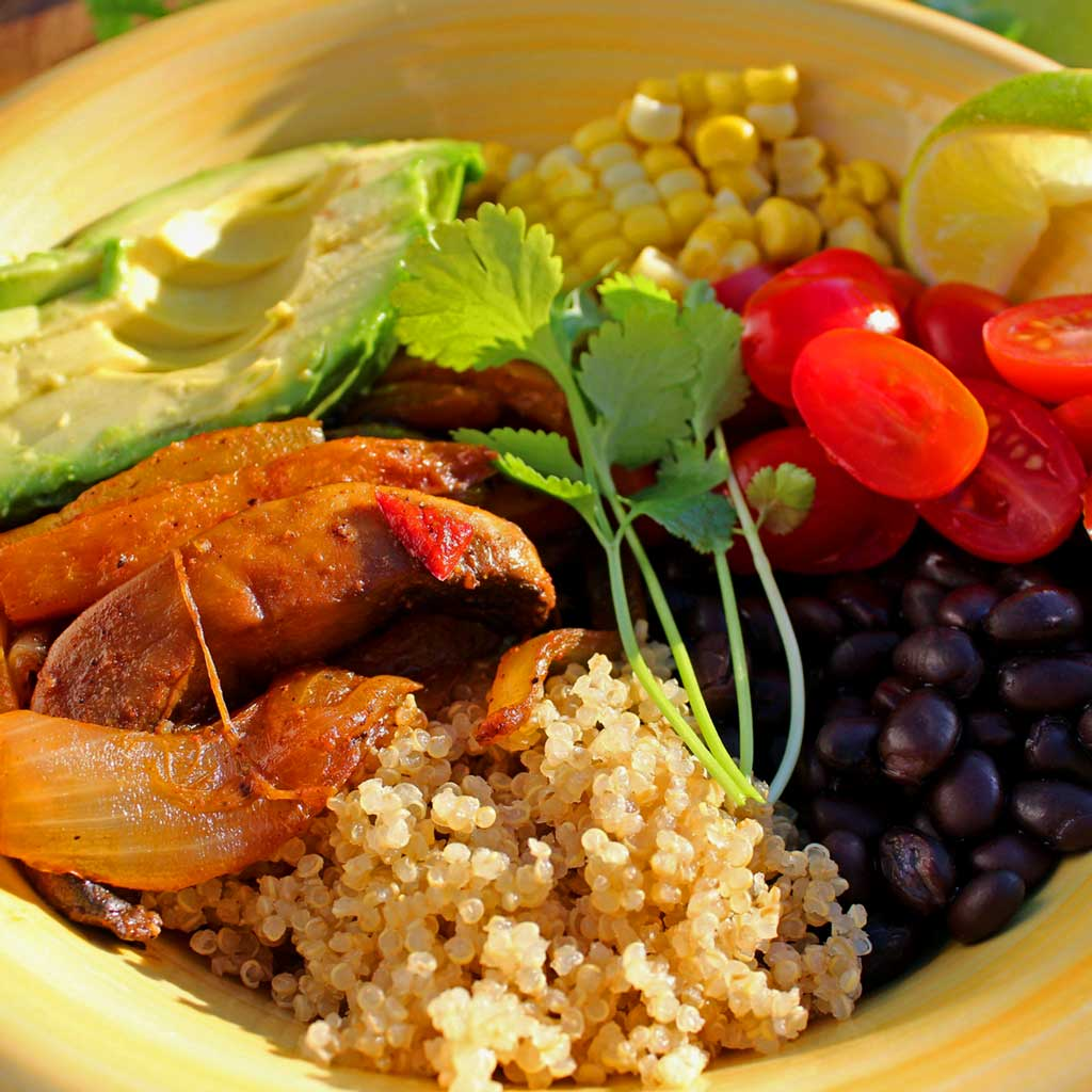 fajita bowl ready to eat