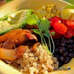 In just 20 minutes, you can whip up a healthy delicious meatless meal with these portobello quinoa fajita bowls! They are packed with flavor and the leftovers may be even better!
