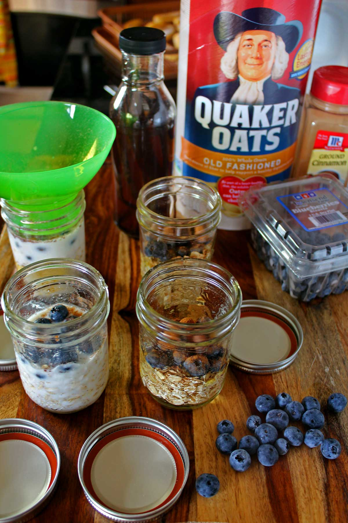 ingredients to make oats