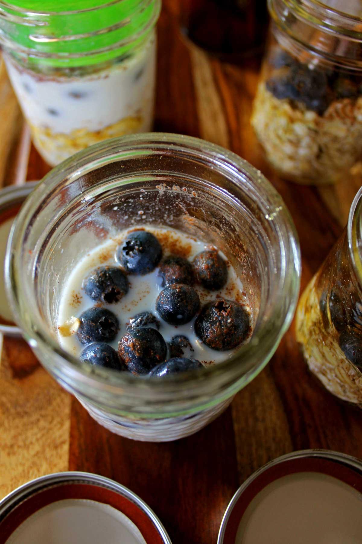 oats in a jar