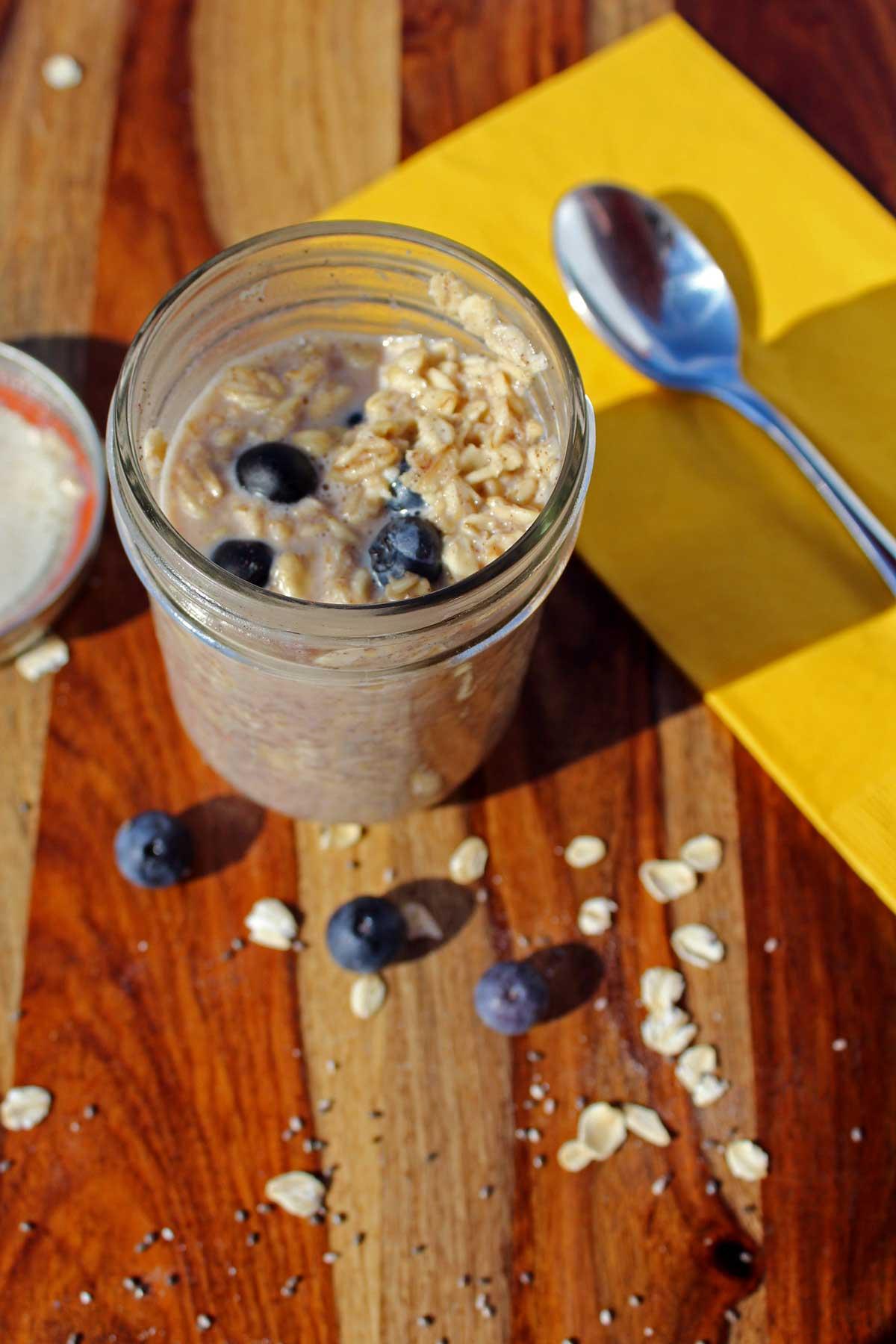 a jar of overnight oats