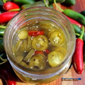 Pickled Jalapenos in jar