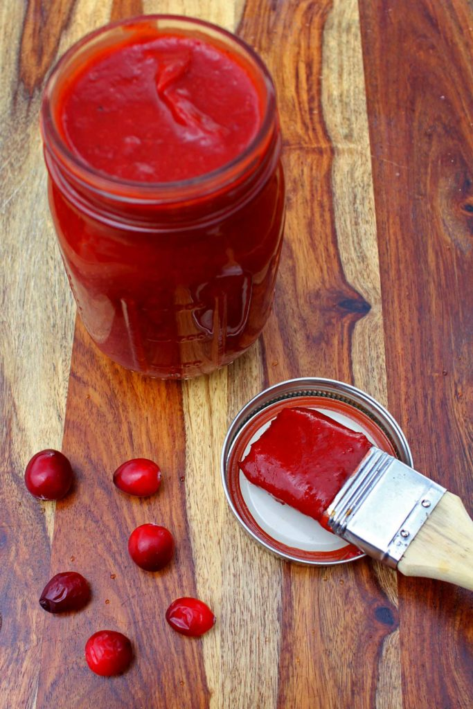 This cranberry BBQ sauce is a savory and versatile barbecue sauce that you can slather all over turkey, chicken, beef or even meatballs this holiday season!