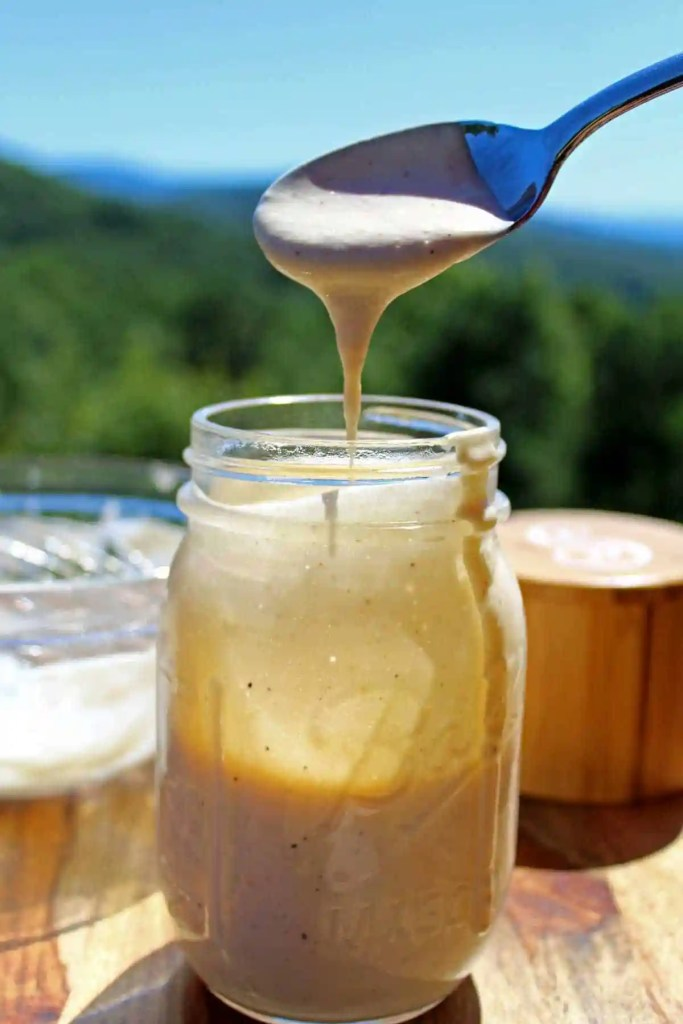 This horseradish white barbecue sauce has the sweet zesty tang of Alabama white barbecue sauce offset with a warm finish of extra horseradish and hot sauce.
