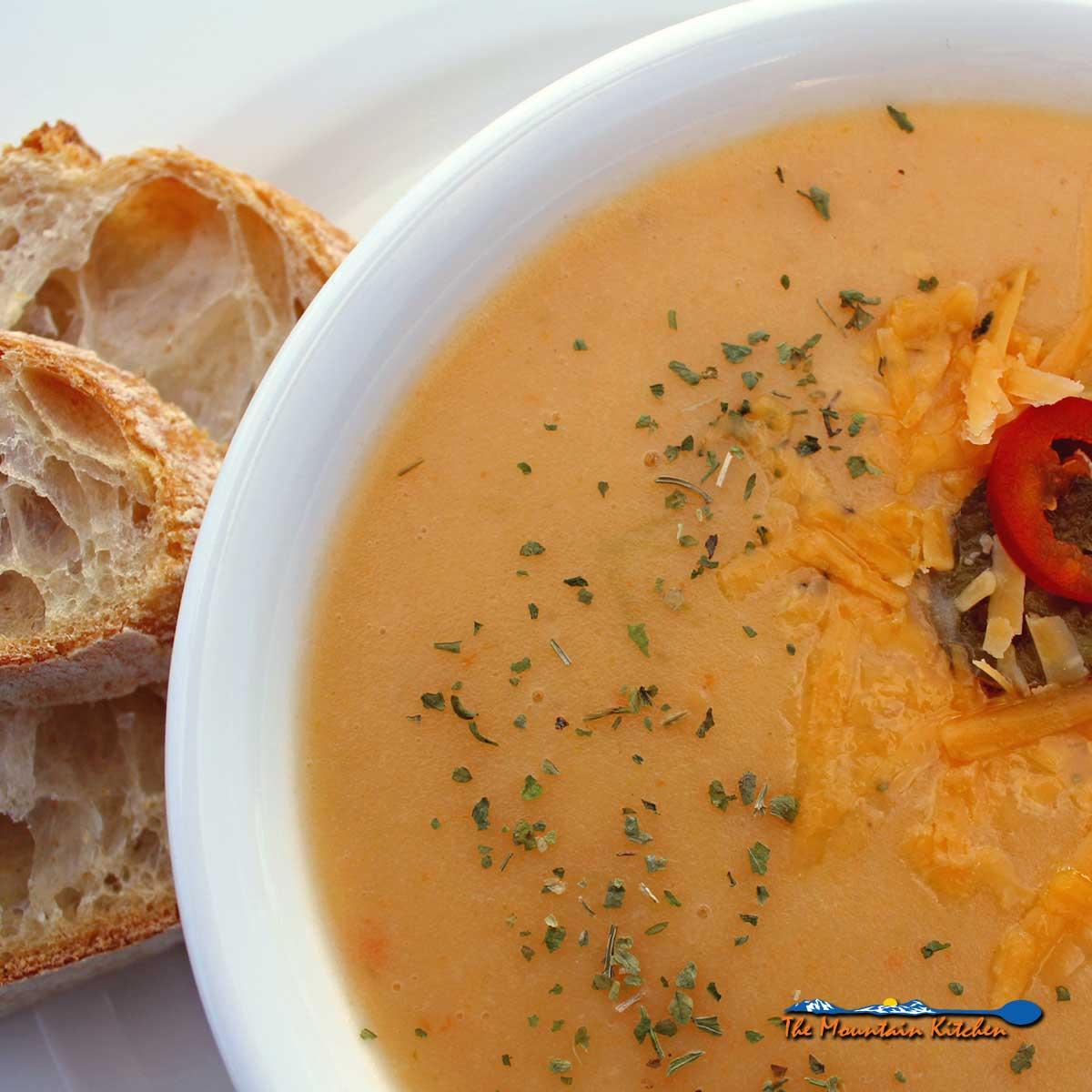 Potato Cheddar Soup {Meatless Monday Recipe