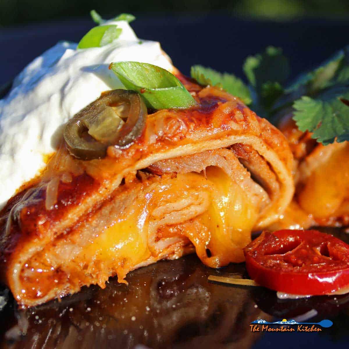 Smoked Beef Brisket Enchiladas