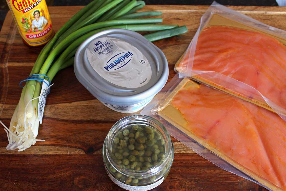 ingredients for salmon spread