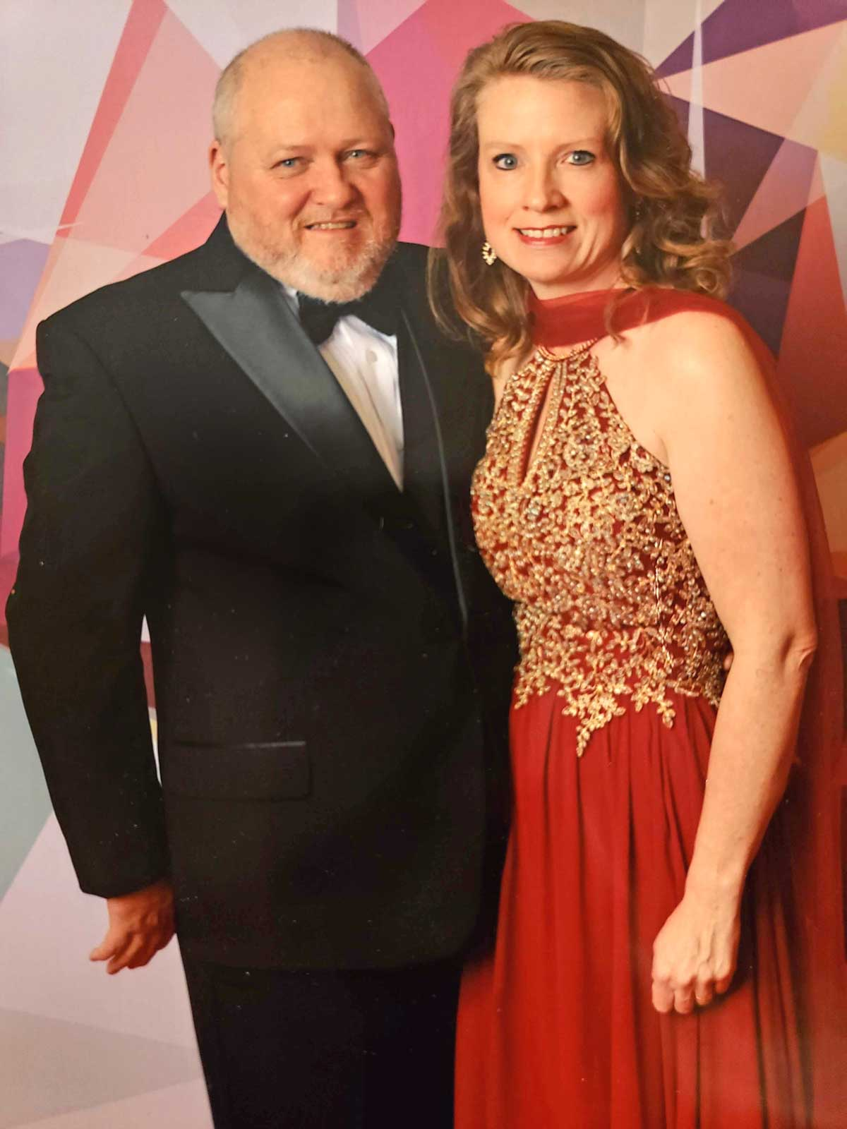 David and I dressed up for the gala