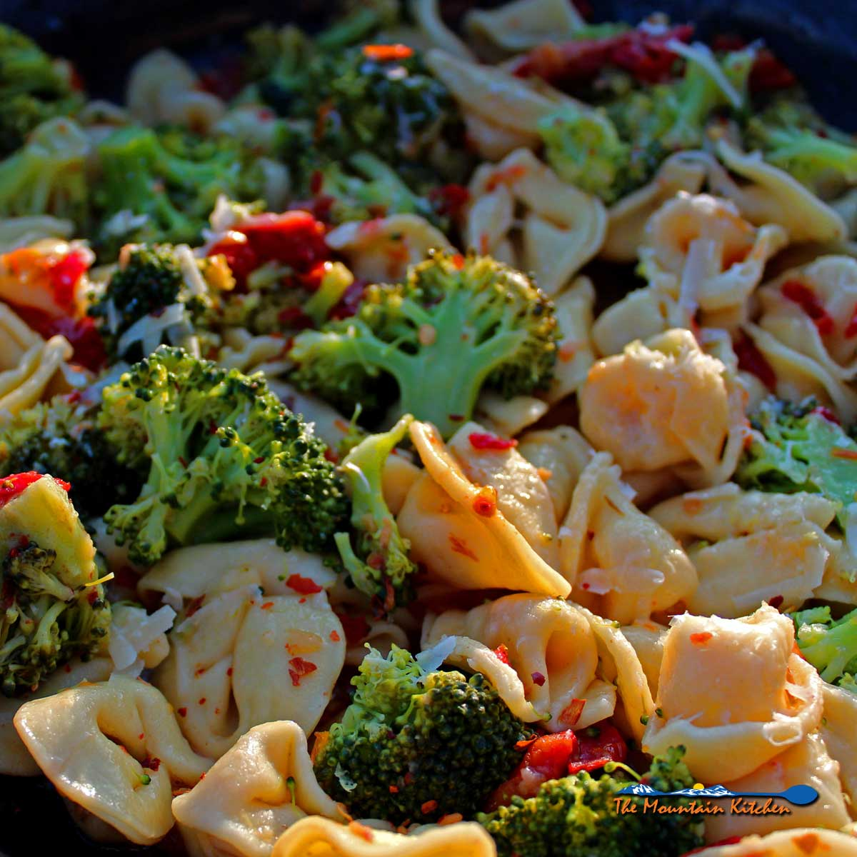 Tortellini with broccoli and sun-dried tomatoes a simple vegetarian pasta dish that comes together quickly for a hearty and healthy meal in no time.