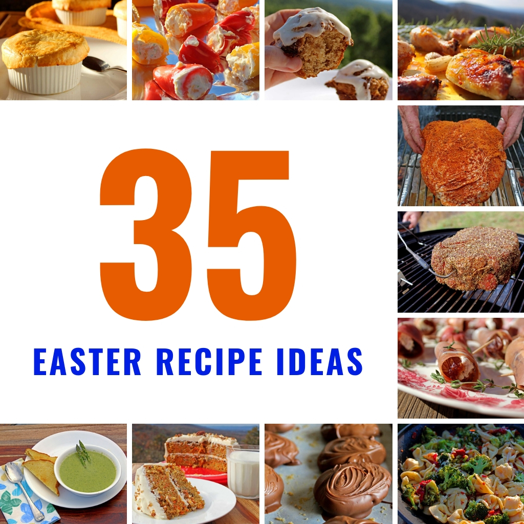 On this list of Easter Recipe Ideas are breakfast, appetizers, main courses, and even desserts. There's a little something for everyone!