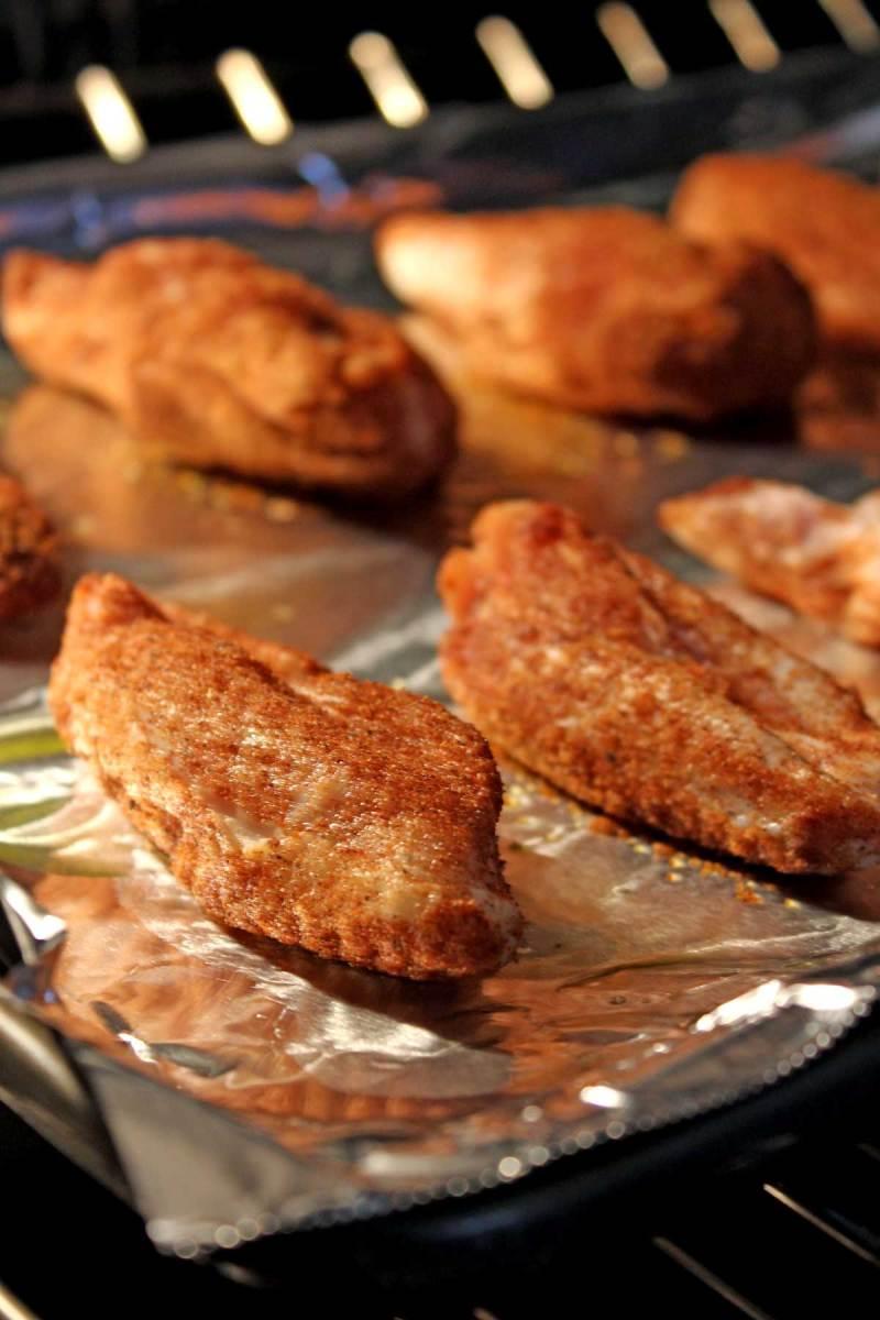 baking wings