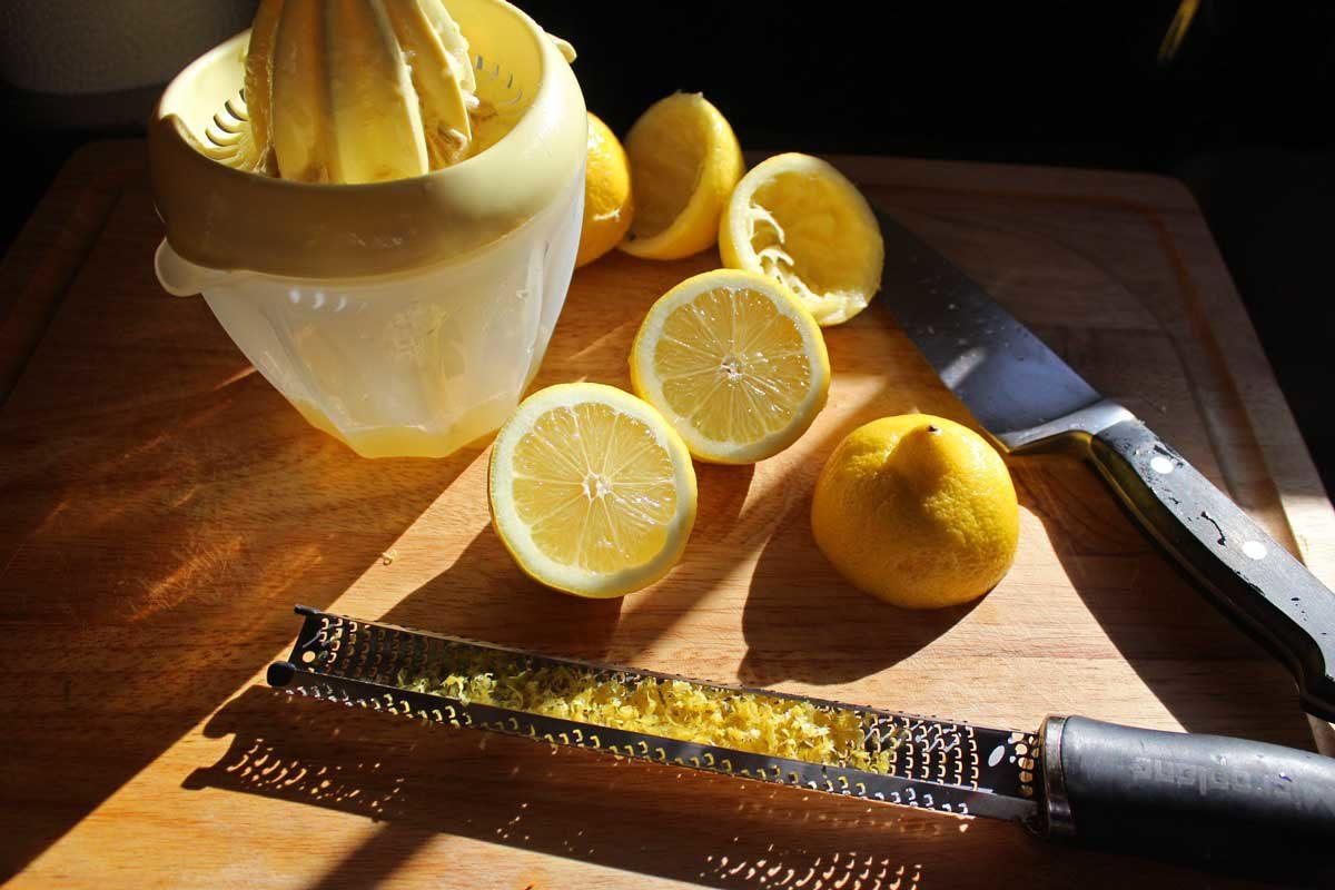lemons juiced and zested