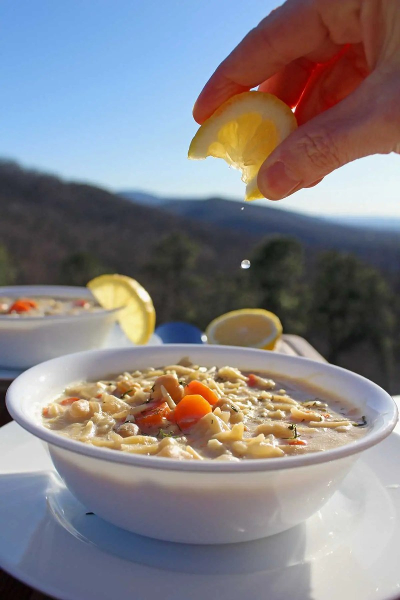 Lemon chickpea orzo soup is a vegetarian take on Greek Avgolemono Soup. A comforting Dairy-free one-pot soup with vegetables, orzo pasta, and a lemony kick.