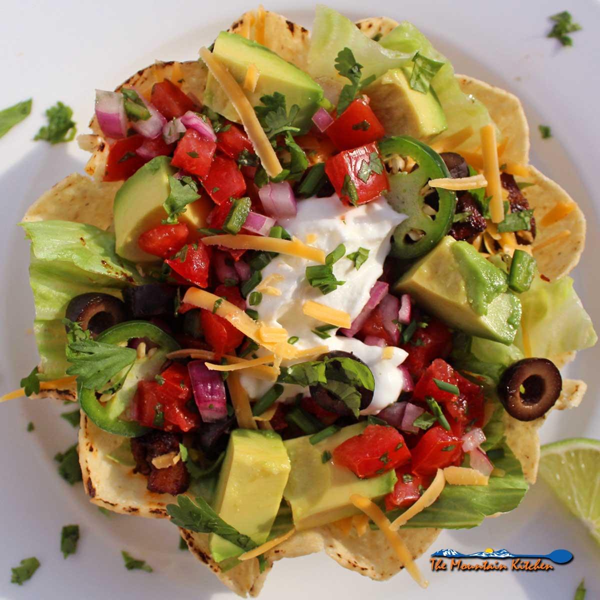 vegetarian taco bowl
