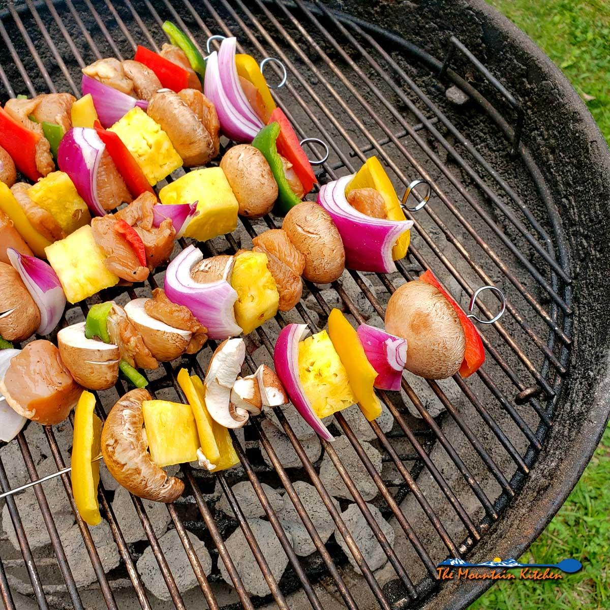 Grilled Teriyaki Chicken Kabobs