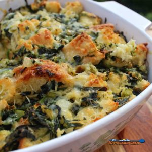 Vegetable Strata {A Meatless Monday Recipe