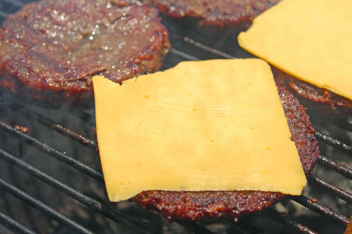 american cheese on burger