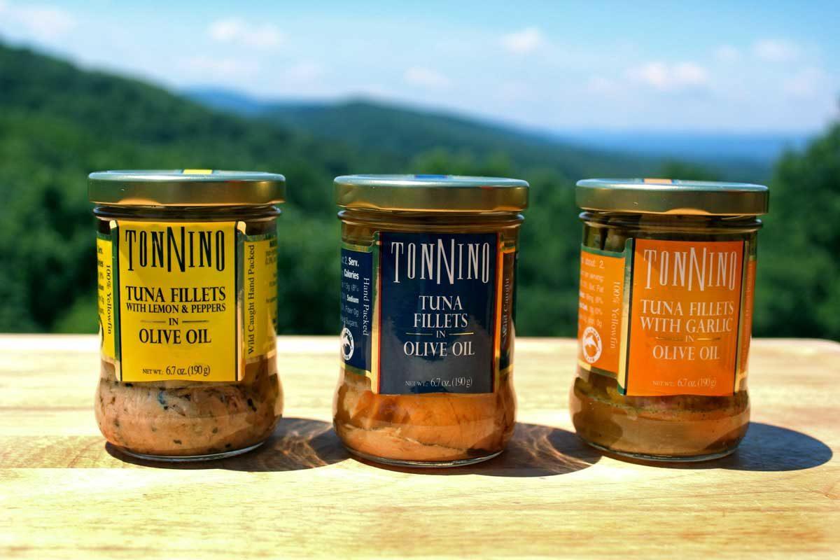 Tonnino's tuna sample jars