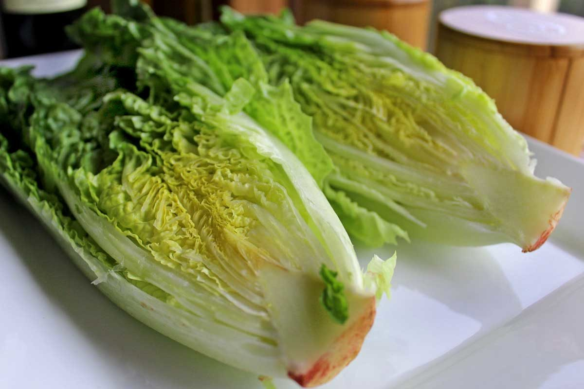 sliced romaine lettuce wedges
