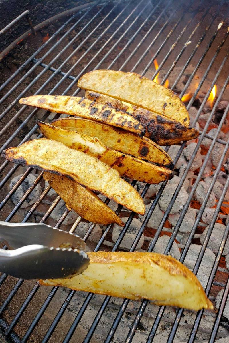 grilling potato wedges