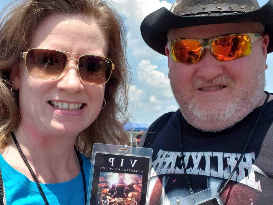 Debbie and David vip pass for HELLYEAH