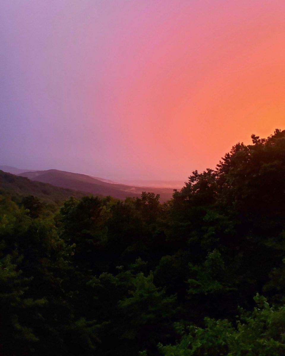 colorful bright july sunset