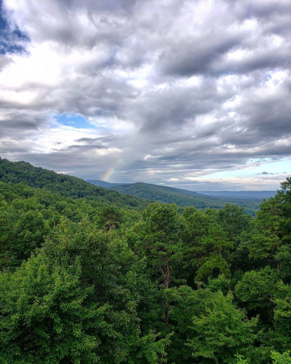 rainbow july mountain view