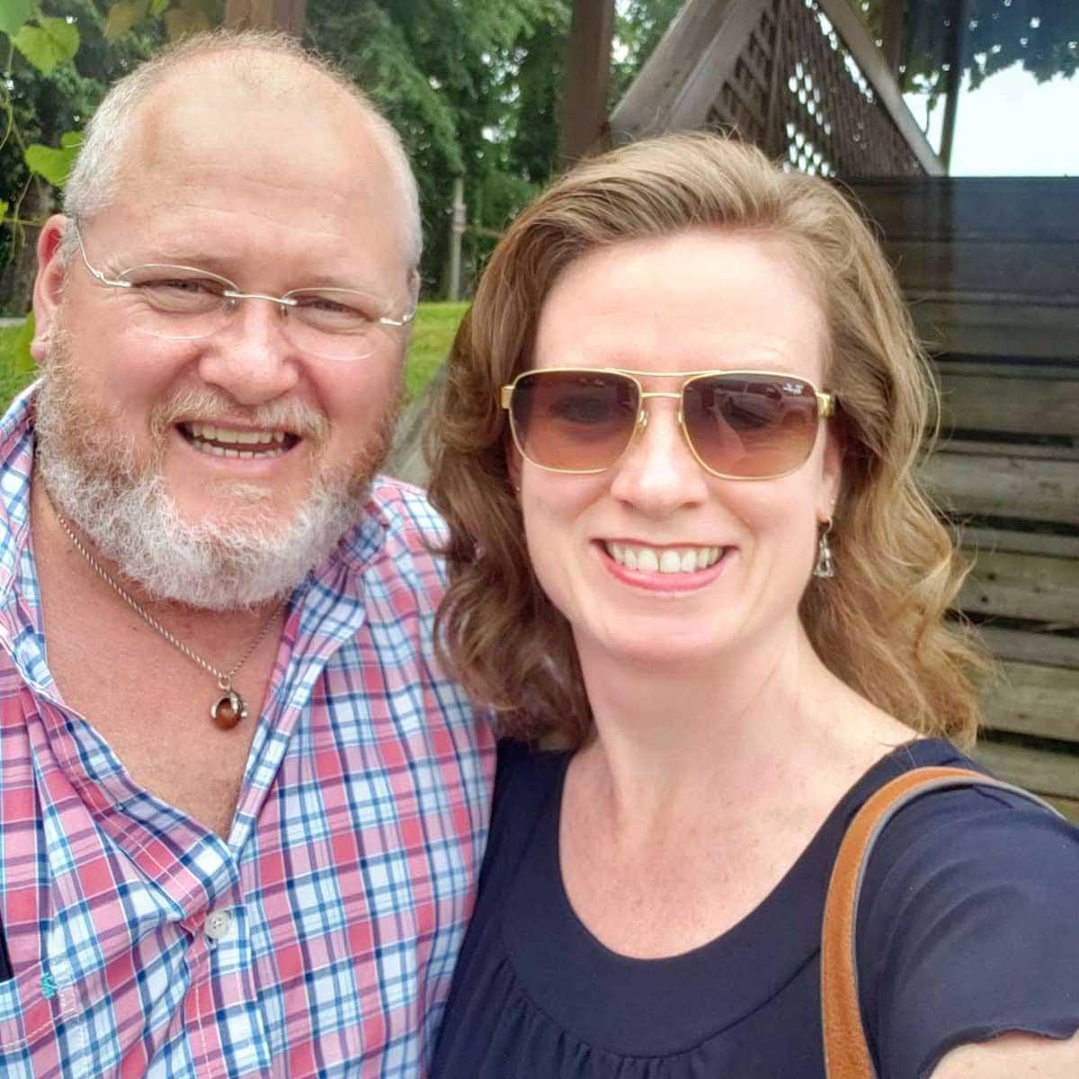 Debbie and David day drankin'