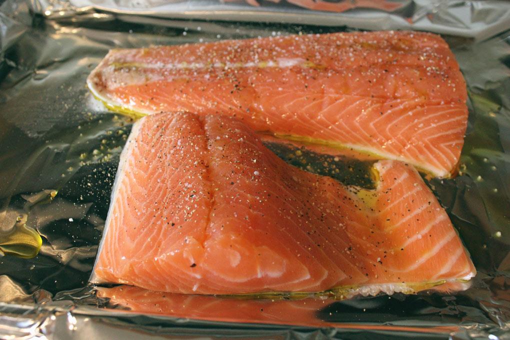 wild-caught salmon fillets