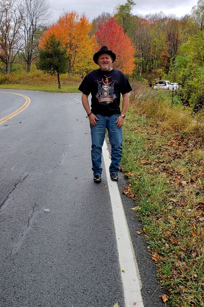 David standing on Skyline Drive