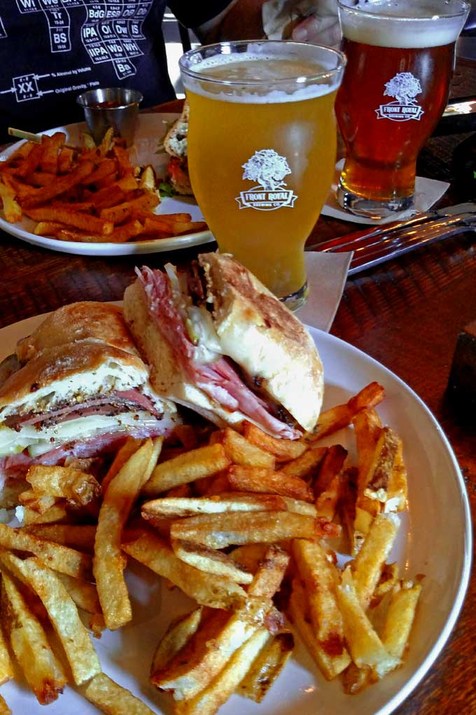 Smoked Duck Cuban Sandwich from Front Royal Brewing Company