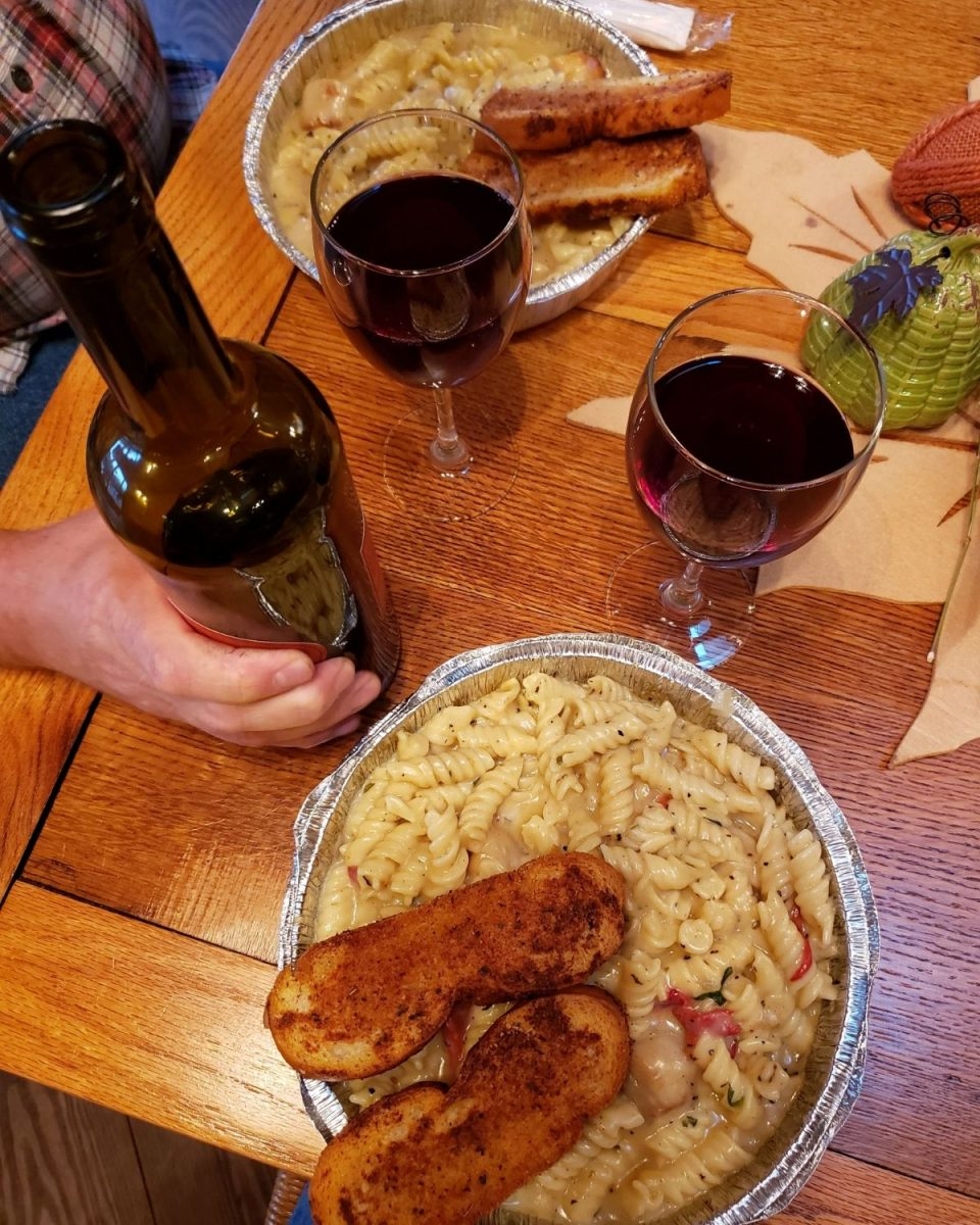 pasta and wine pairing for the evening