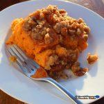 sweet potato casserole served on plate