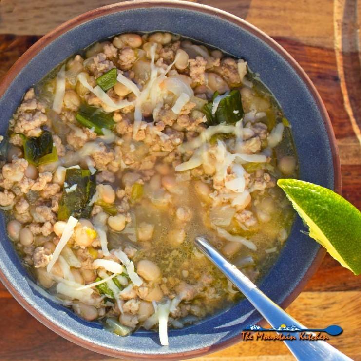 white bean and pork chili