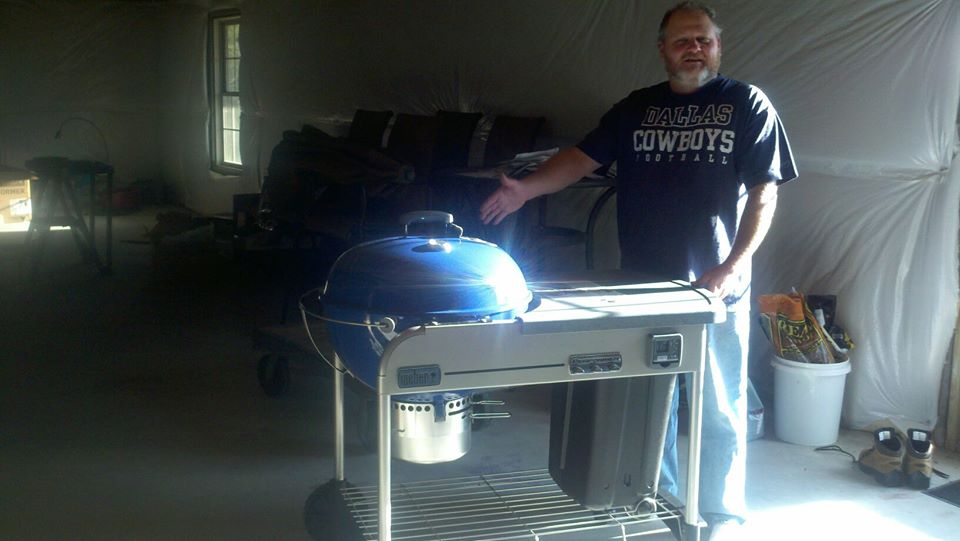 David with new Weber Performer grill