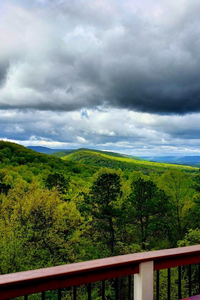 bright green mountain view