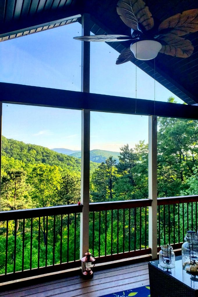 back porch with view