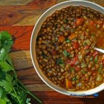 bowl of easy lentil soup