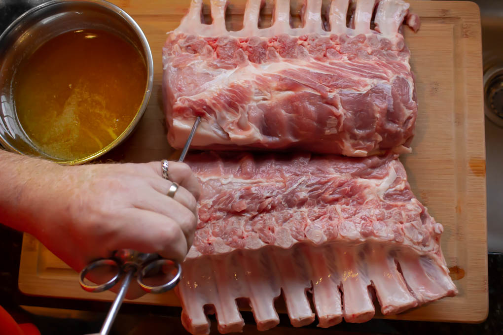 injecting meat with brine