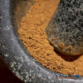 garam masala in mortar and pestle
