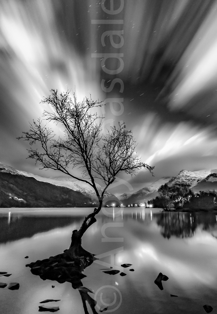 Llyn Padarn at night