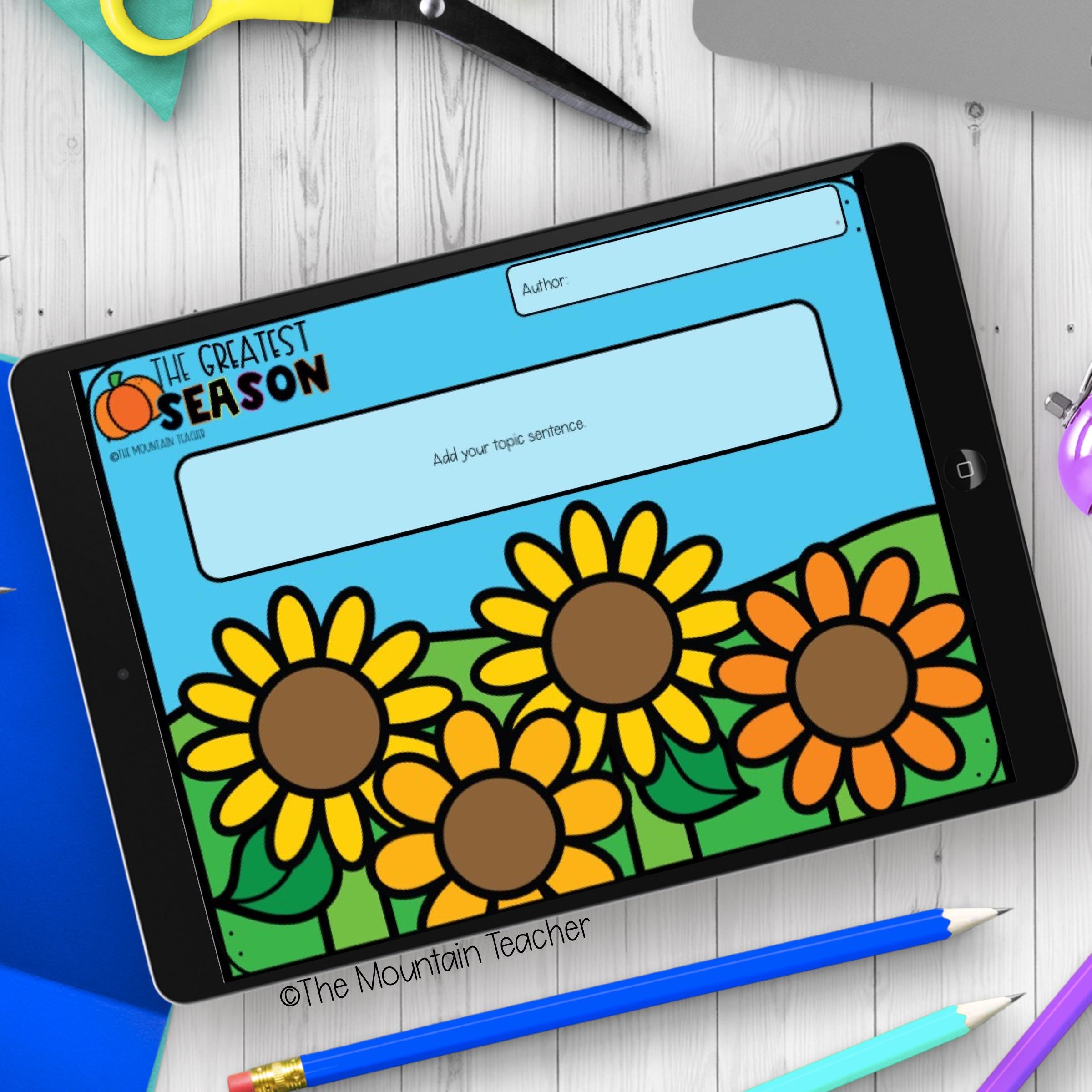 Digital Writing for Elementary School Example
