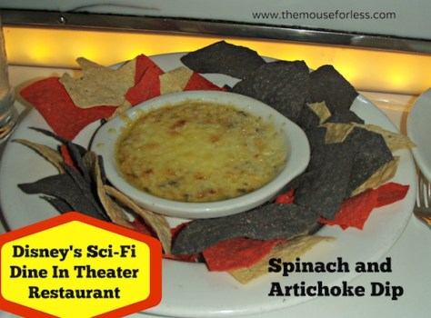 Image result for sci-fi dine-in theater spinach dip