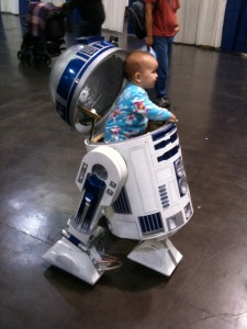 Baby in a droid